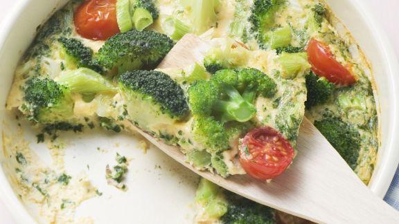 Rezept: Tortilla mit Brokkoli