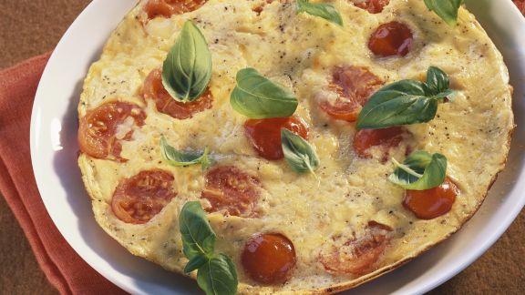 Rezept: Tortilla mit Tomate und Basilikum