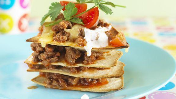 Rezept: Tortillas mit Hackfleisch