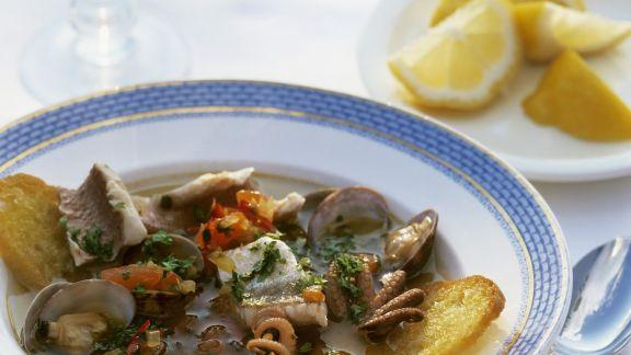 Rezept: Toskanischer Fisch-Meeresfrüchte-Eintopf