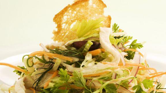 Rezept: Traubensalat mit Hühnchen und Gemüse