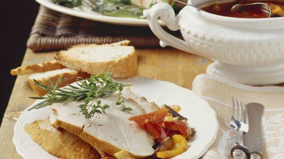 Rezept: Truthahnbraten mit Gemüsesauce
