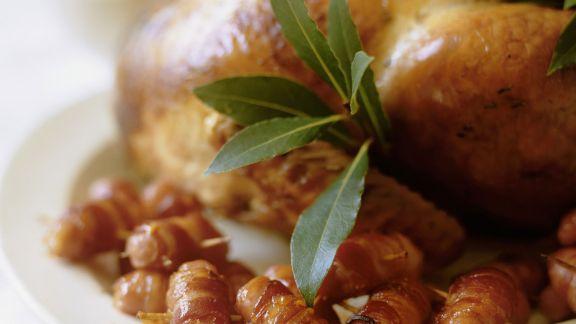 Rezept: Truthahnbraten mit Speck-Würstchen