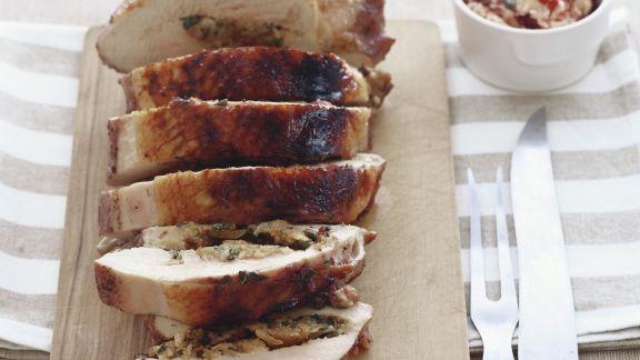 Rezept: Truthahnbrust mit Füllung und Cranberry-Butter