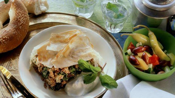 Rezept: Türkischer Auflauf mit Spinat und Hackfleisch