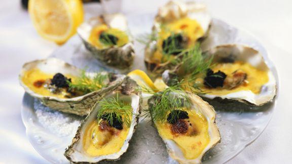 Rezept: Überbackene Austern