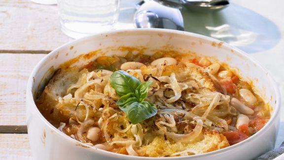 Rezept: Überbackene Bohnensuppe