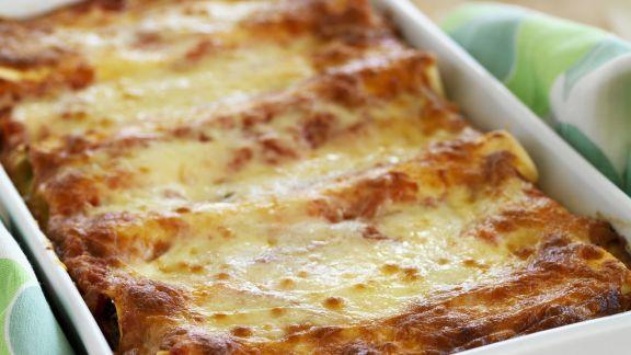 Rezept: Überbackene Cannelloni