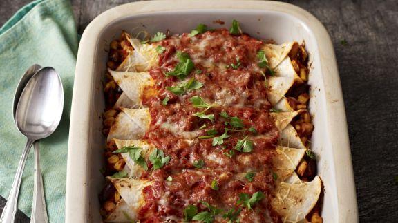 Rezept: Überbackene Tortillas mit Füllung