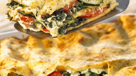 Rezept: Vegetarische Lasagne mit Bärlauchsoße