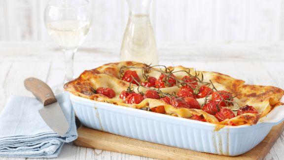 Rezept: Vegetarische Lasagne mit Kirschtomaten