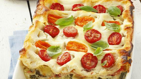 Rezept: Vegetarische Lasagne mit Tomaten