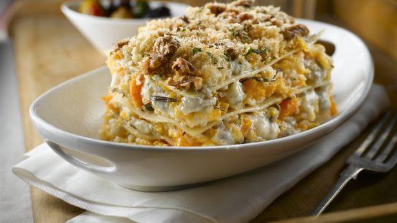 Rezept: Vegetarische Lasagne mit Walnüssen