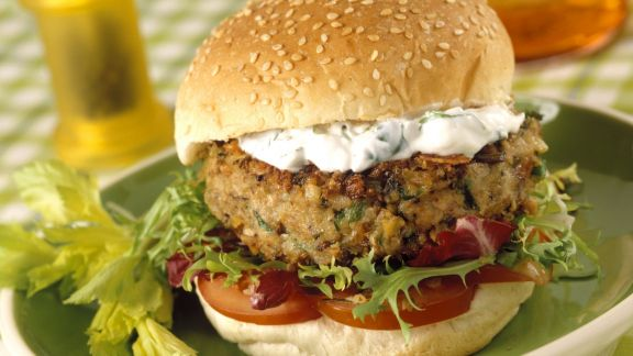 Rezept: Vegi-Burger mit Quarkcreme