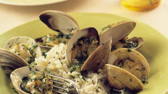 Rezept: Venusmuscheln mit Reis