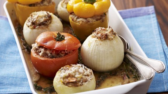 Rezept: Verschiedenes Gemüse mit Füllung