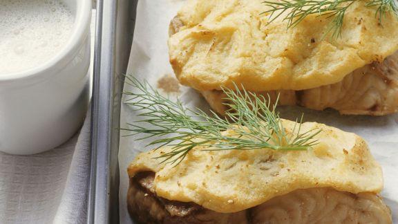 Rezept: Waller mit Kartoffelhaube und Biersoße