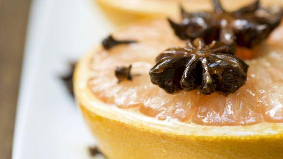 Rezept: Warme Grapefruit mit Honig