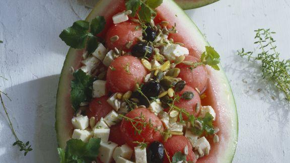 Rezept: Wassermelone mit Feta