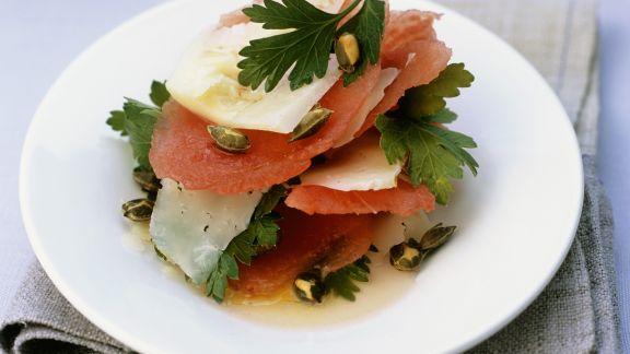 Rezept: Wassermelone mit Pecorino