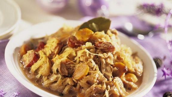 Rezept: Weihnachtliche Sauerkrautsuppe