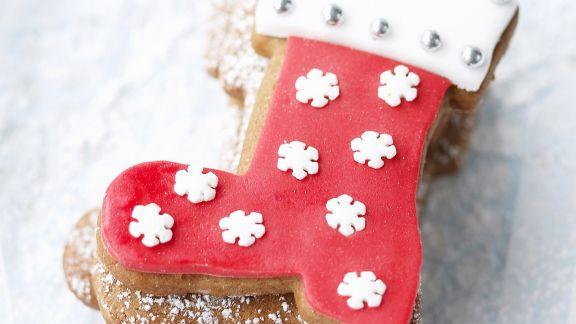 Rezept: Weihnachtliche Stiefelplätzchen