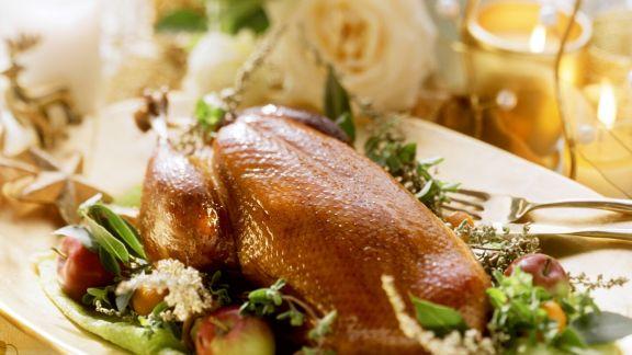 Rezept: Weihnachtlicher Entenbraten