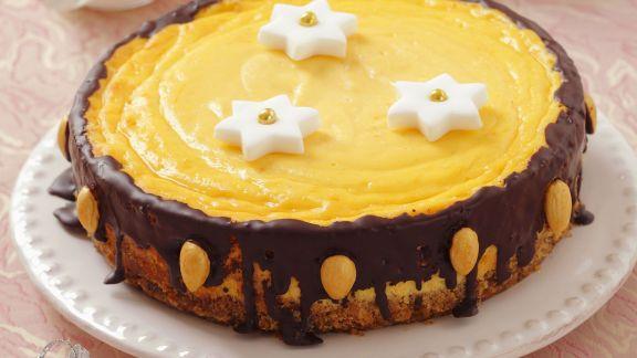 Rezept: Weihnachtlicher Käse-Schoko-Kuchen