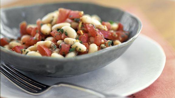 Rezept: Weißer Bohnensalat mit Tomaten