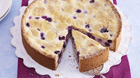 Rezept: Weißer Zupfkuchen mit Blaubeeren
