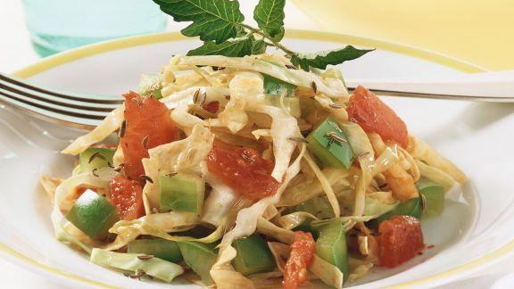 Rezept: Weißkohl mit Tomaten und Paprika