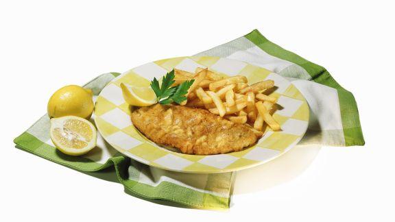 Rezept: Wiener Schnitzel mit Pommes frites