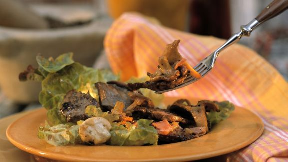 Rezept: Wildsalat mit Pilzen