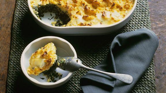 Rezept: Wirsingauflauf mit Kartoffelhaube