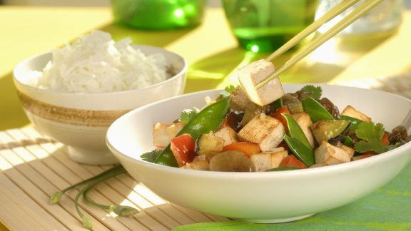 Rezept: Wok mit Tofu und Gemüse