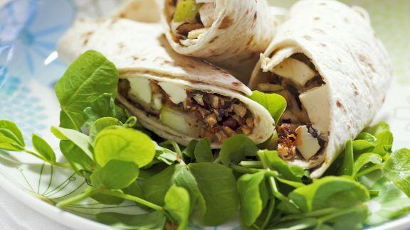 Rezept: Wrap mit Mozzarella und Birnen
