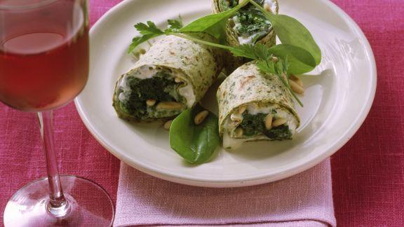 Rezept: Wraps mit Gorgonzola und Spinat