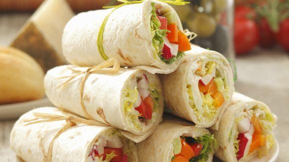 Rezept: Wraps mit Paprika-Radieschen-Füllung