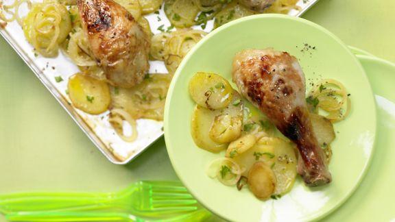 Rezept: Würzige Hähnchenunterkeulen