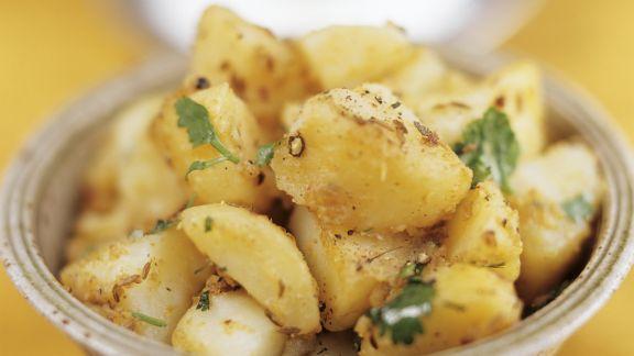 Rezept: Würzige Kartoffeln mit Koriander und Kreuzkümmel