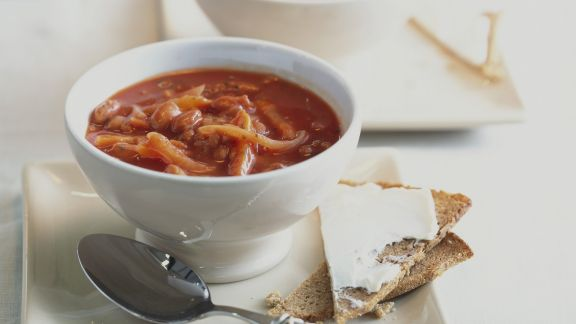Rezept: Würzige Tomatensuppe