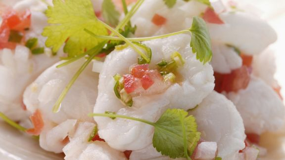 Rezept: Würziger Fisch mit Koriander und Paprika (Ceviche)
