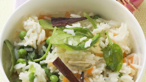 Rezept: Würziger Reis mit Gemüse