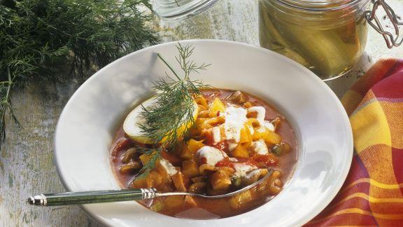 Rezept: Wurst-Gemüse-Eintopf auf russische Art