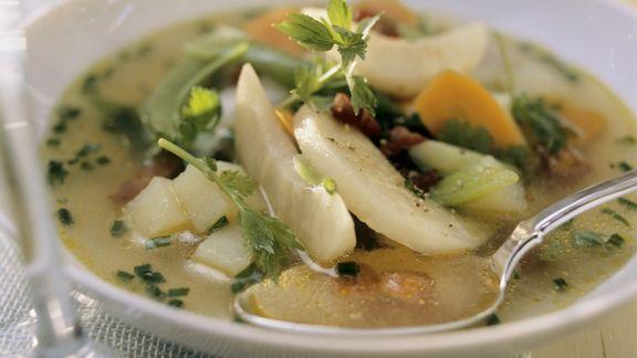 Rezept: Wurstsuppe mit Gemüse (Metzelsuppe)