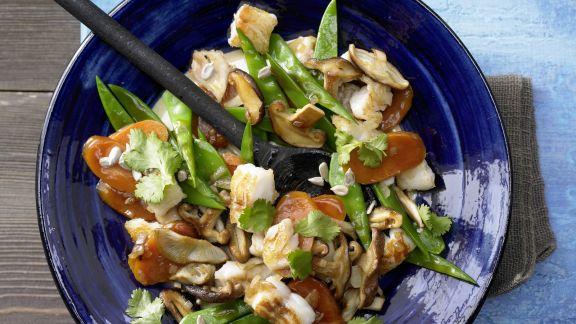 Rezept: Zander-Gemüse-Pfanne