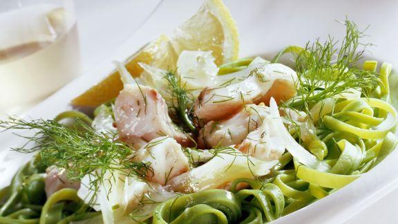 Rezept: Zander mit grüner Pasta