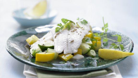 Rezept: Zanderfilet auf Zucchini