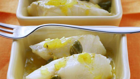 Rezept: Zitronen-Kabeljau mit Kapern