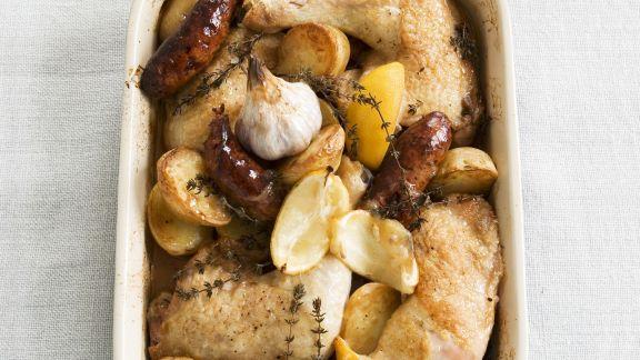 Rezept: Zitronenhähnchen mit Chorizo und Knoblauch